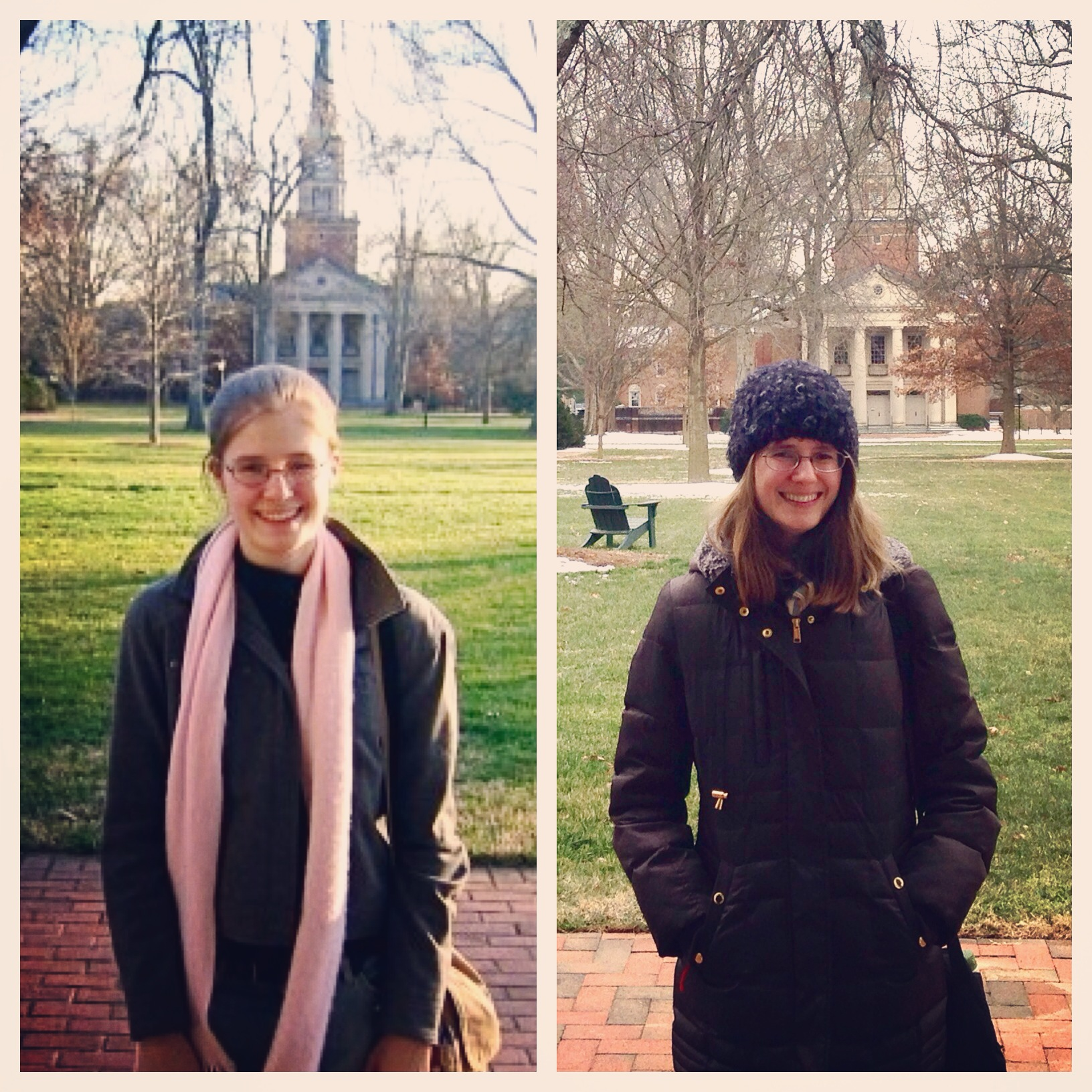 My first visit to Davidson back in 2006, and my most recent visit, nine years later to the day.