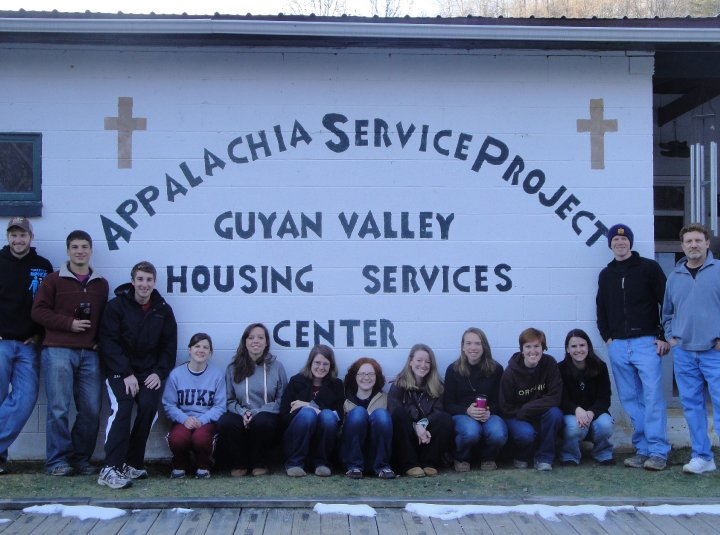 Grace and I (fifth & sixth from the left) had a ball serving with ASP in college with our Methodist Fellowship group.