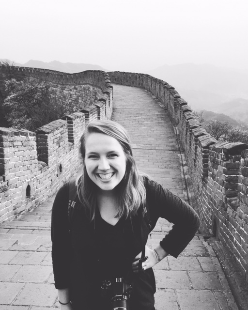 Allison at the Great Wall of China.