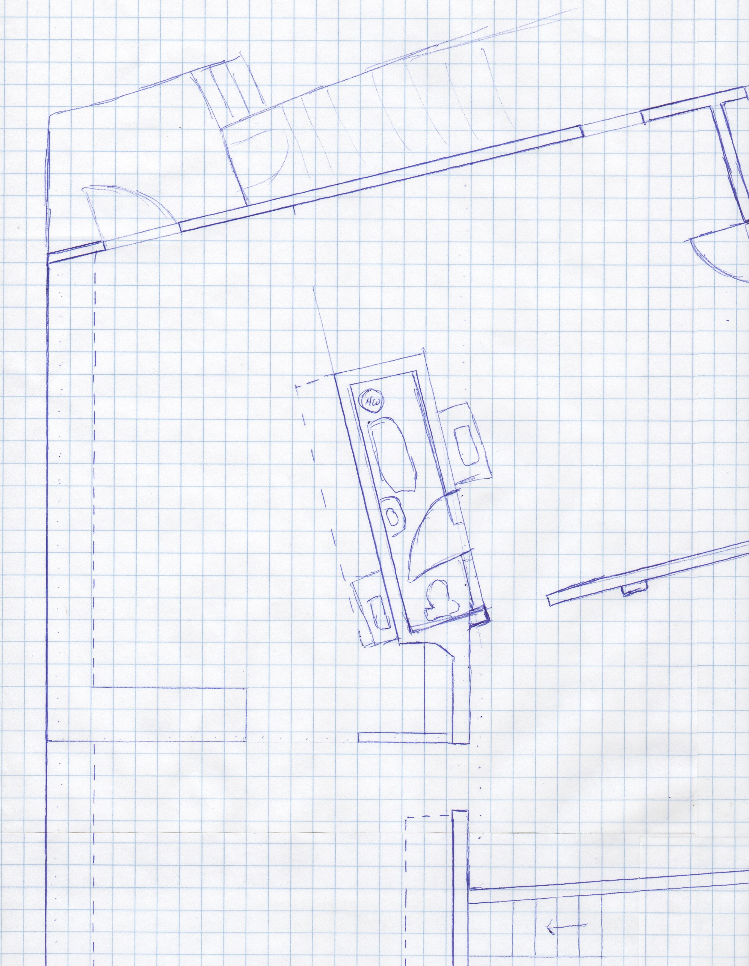 cafe layout drawing