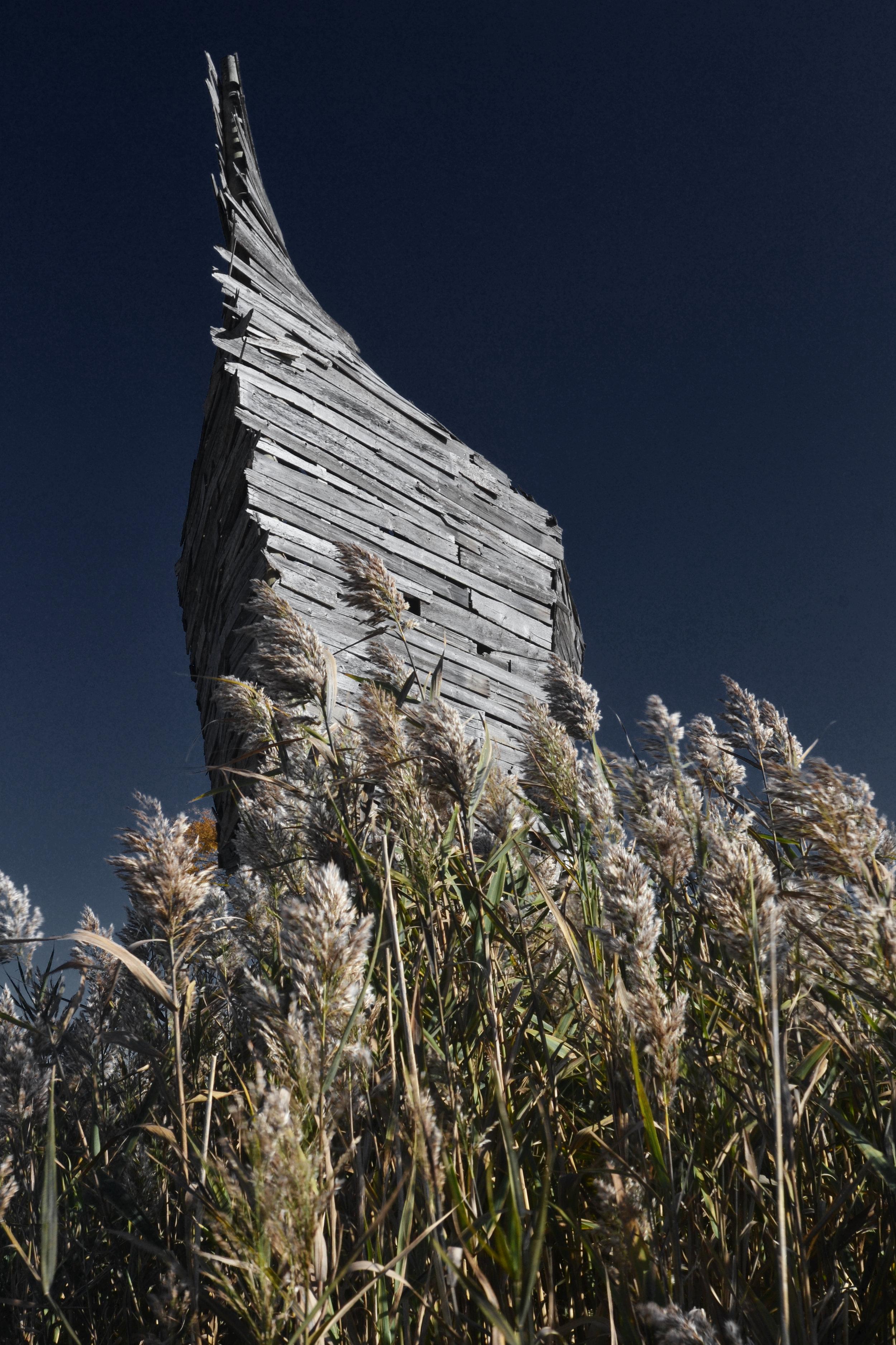 """Port Austin Barn Art """"Emergency Ark"""" by Scott Hocking"""