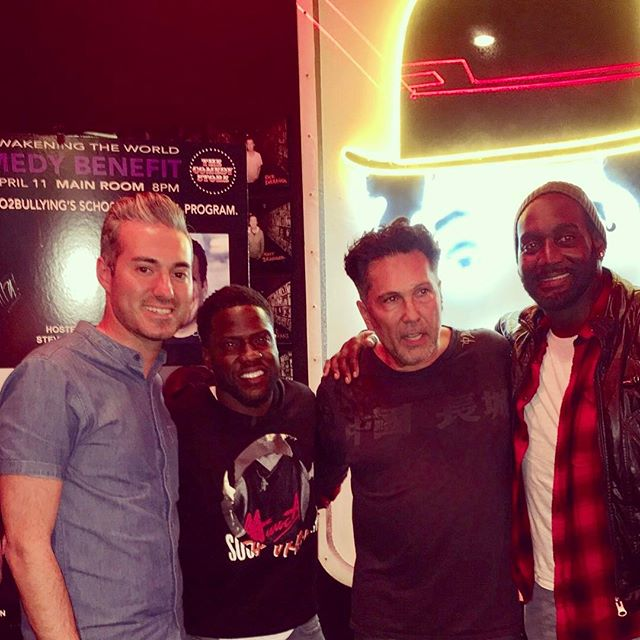 Night of comedy with @boo2bullying. Thanks for being our surprise guest @kevinhart4real #KevinHart