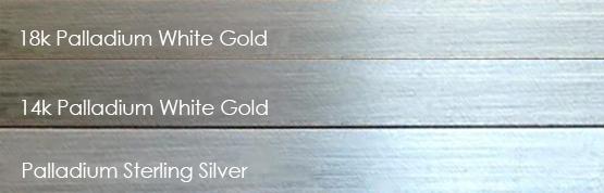 palladium white gold, karat, custom wedding ring