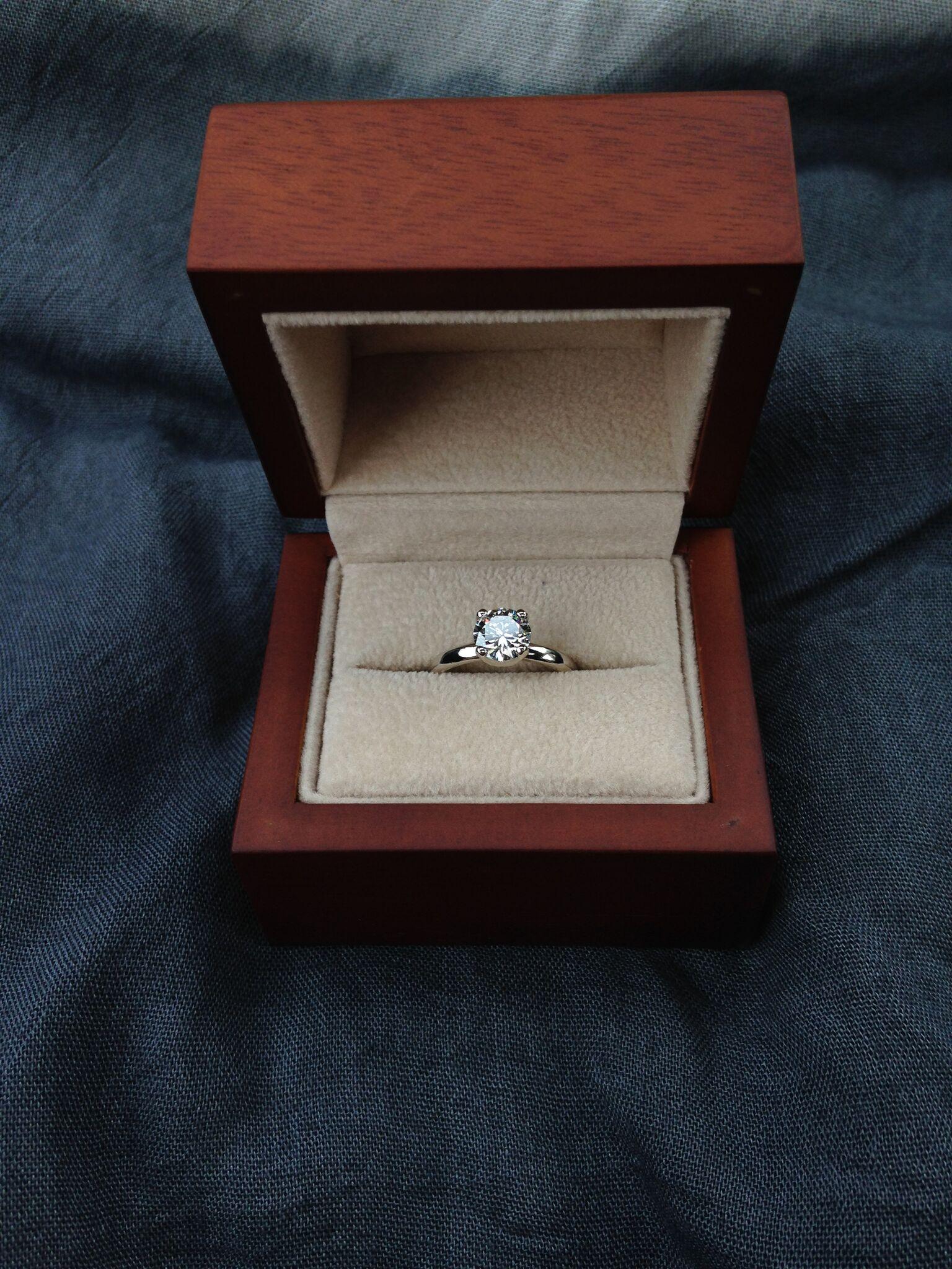 Lab grown diamond engagement ring handmade by Ryan.
