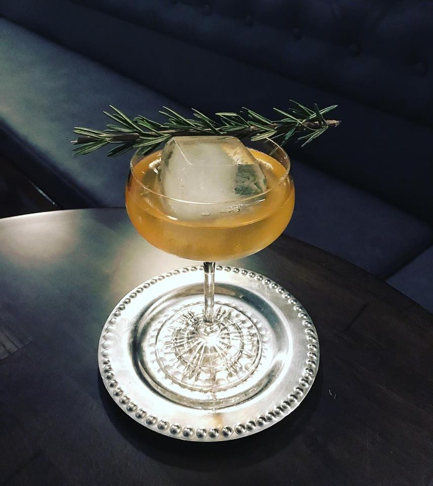 """Divine Intervention"" made with organic aloe, rosemary, ver jus blanc, and a house-made tonic infusion  Photo Credit: The In Between"