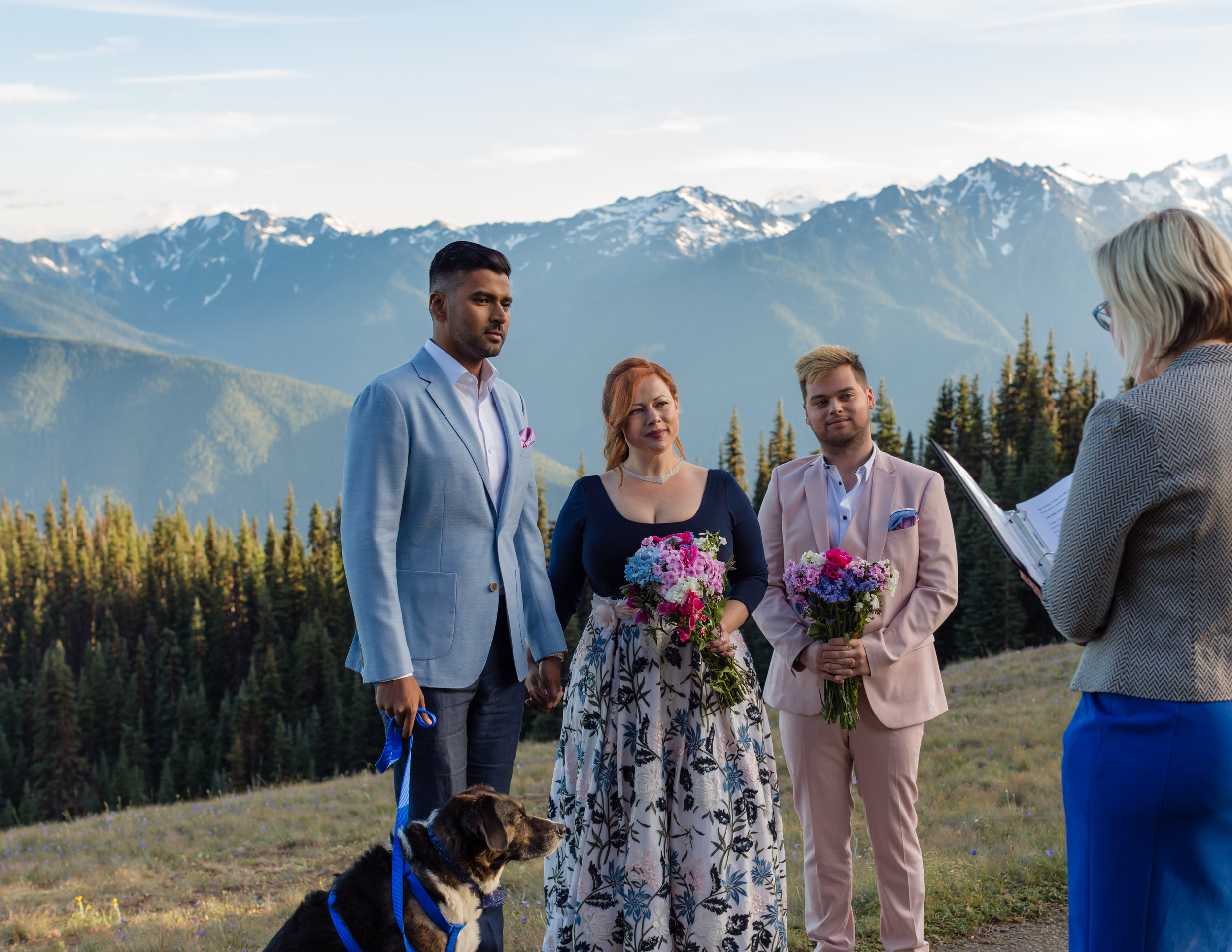 Couple: Christine & Shan July 2018 Elopement at Hurricane Ridge  Photographer:  MJ Photography
