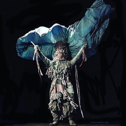 Cloud of Becoming by 2018 Artist Camille Hildebrandt Photo Credit: PT Wearable Art Show
