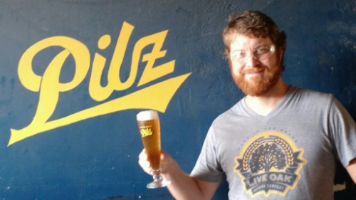 Jason Watkins  started home brewing after a deployment to the middle east with the Army and the subsequent year long beer fast. After college he moved to Austin eventually landing a job washing kegs and moving beer at Live Oak. As fan of traditional German and Czech lagers, Live Oak was a perfect fit. In the years since he has become the Lead Cellarman for Live Oak where he tastes great beer every day and gets paid for it in actual money from a legitimate paycheck.