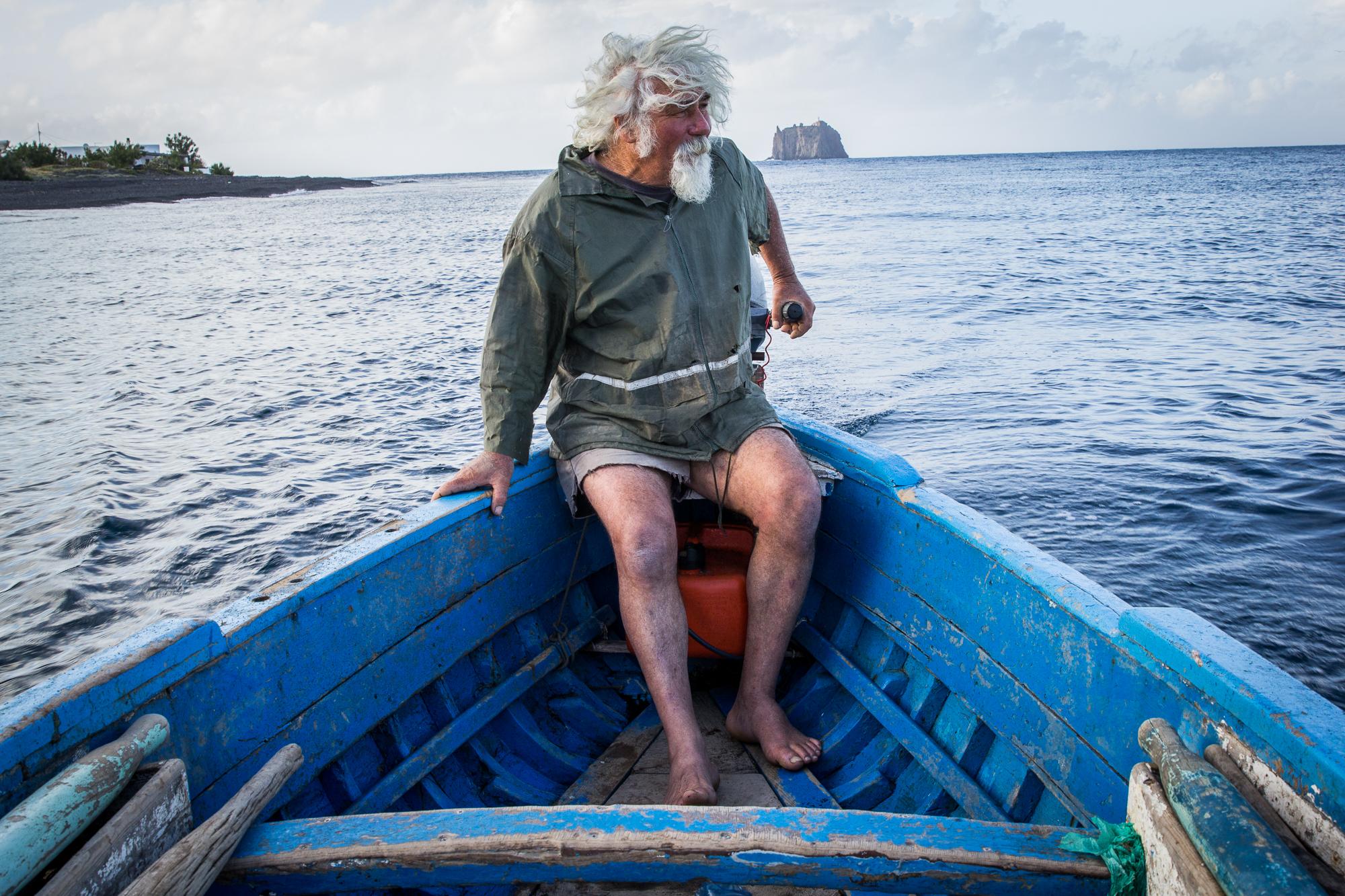 Gaetano in the boat