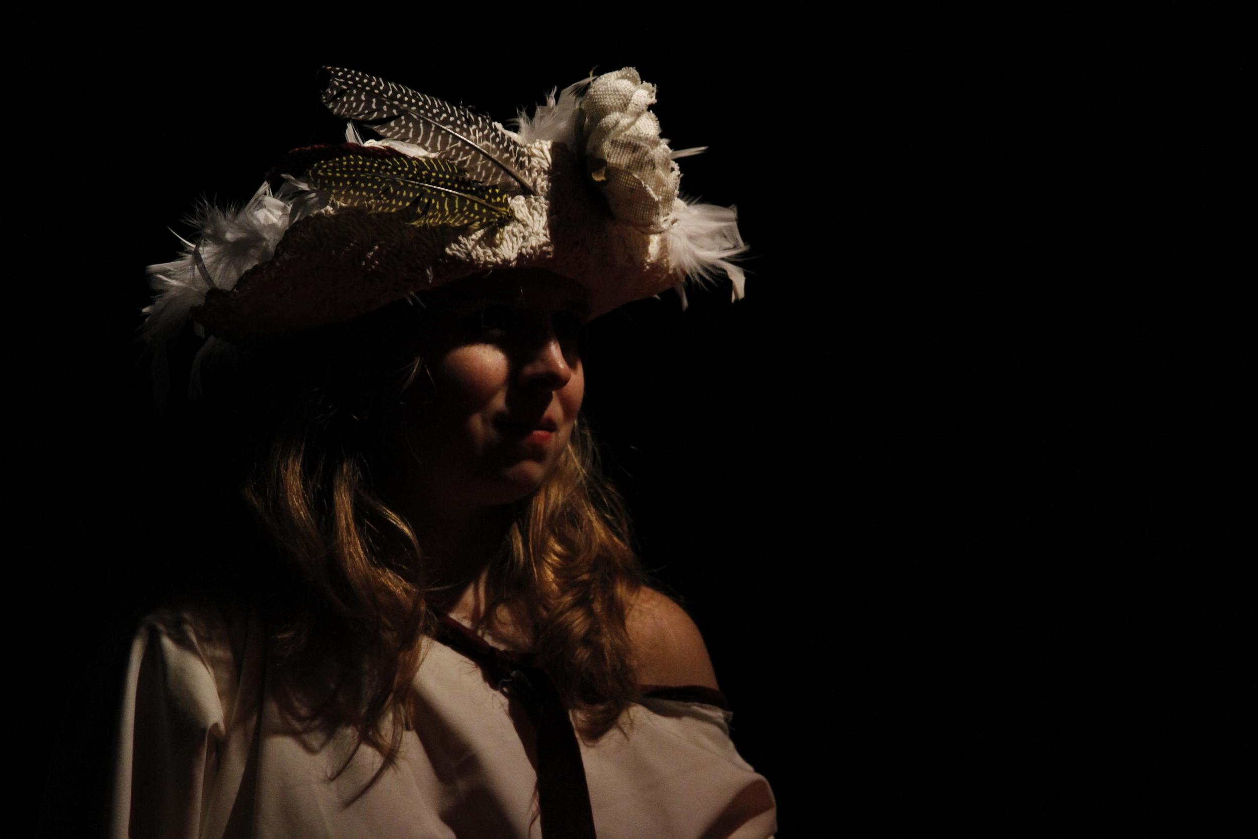 Ann Fraistat in the Venus Theatre production of  731 . Photo by Curtis Jordan.