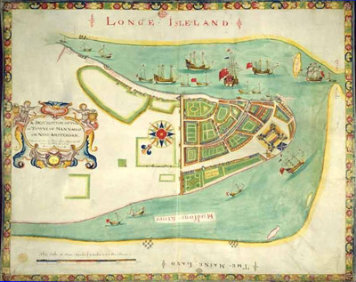 Map of New Amsterdam.
