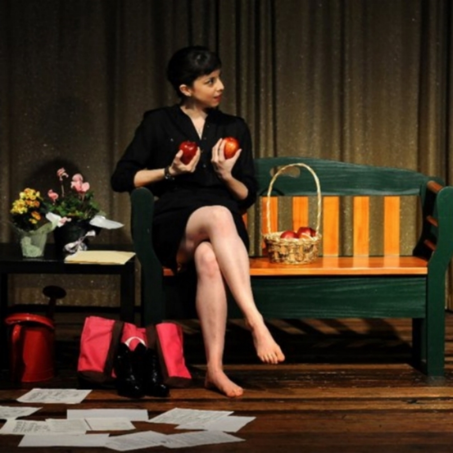Sarah Lutz in  Eden  at Crack the Glass Theatre Company, directed by Polly Rose Edelstein. Photo by Jack E. Kapp.