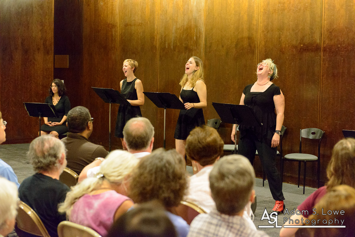 Mary Burke-Hueffmeier, Amy Rhodes, Ann Fraistat, and Deborah Randall in Venus Theatre's reading of  Witches Vanish  at the Kennedy Center Page-to-Stage New Play Festival.  Adam S. Lowe Photography ,