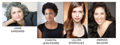 The cast of the MultiStages New Works Finalist Festival reading.