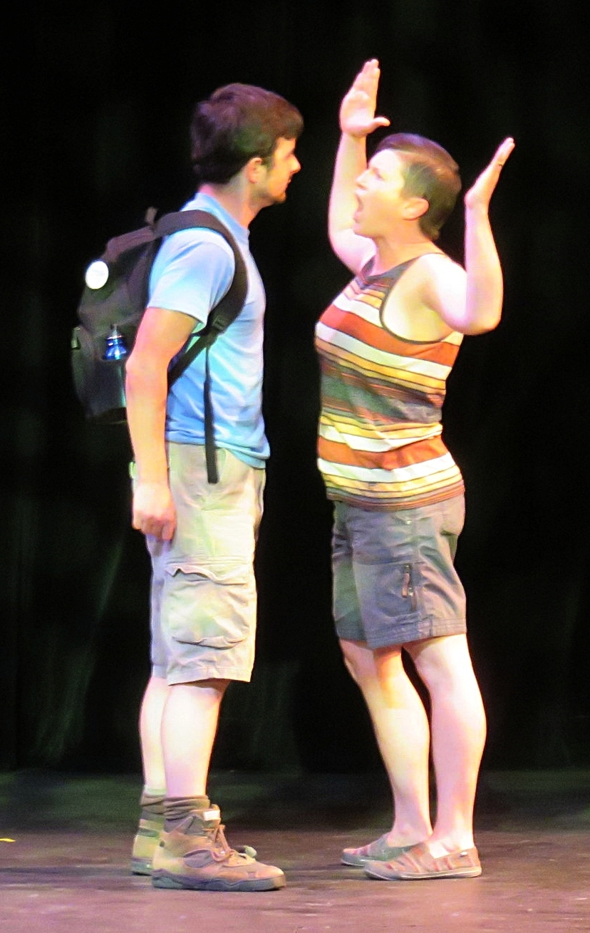 Jamie H. Jung and Jen Grigg in  Palooka  at Fusion Theatre's The Seven: Strange Bedfellows, directed by Aaron Worley.