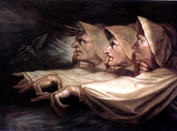 Henri Fuseli,  The Three Witches  (1783).