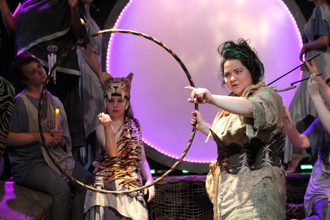 Janie Tyler and Arielle Conrad in the WKU production. Photo by Rachel Turner.