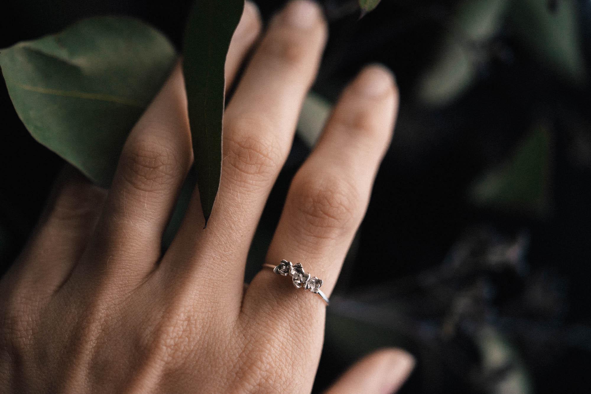 Succulent Trio Ring