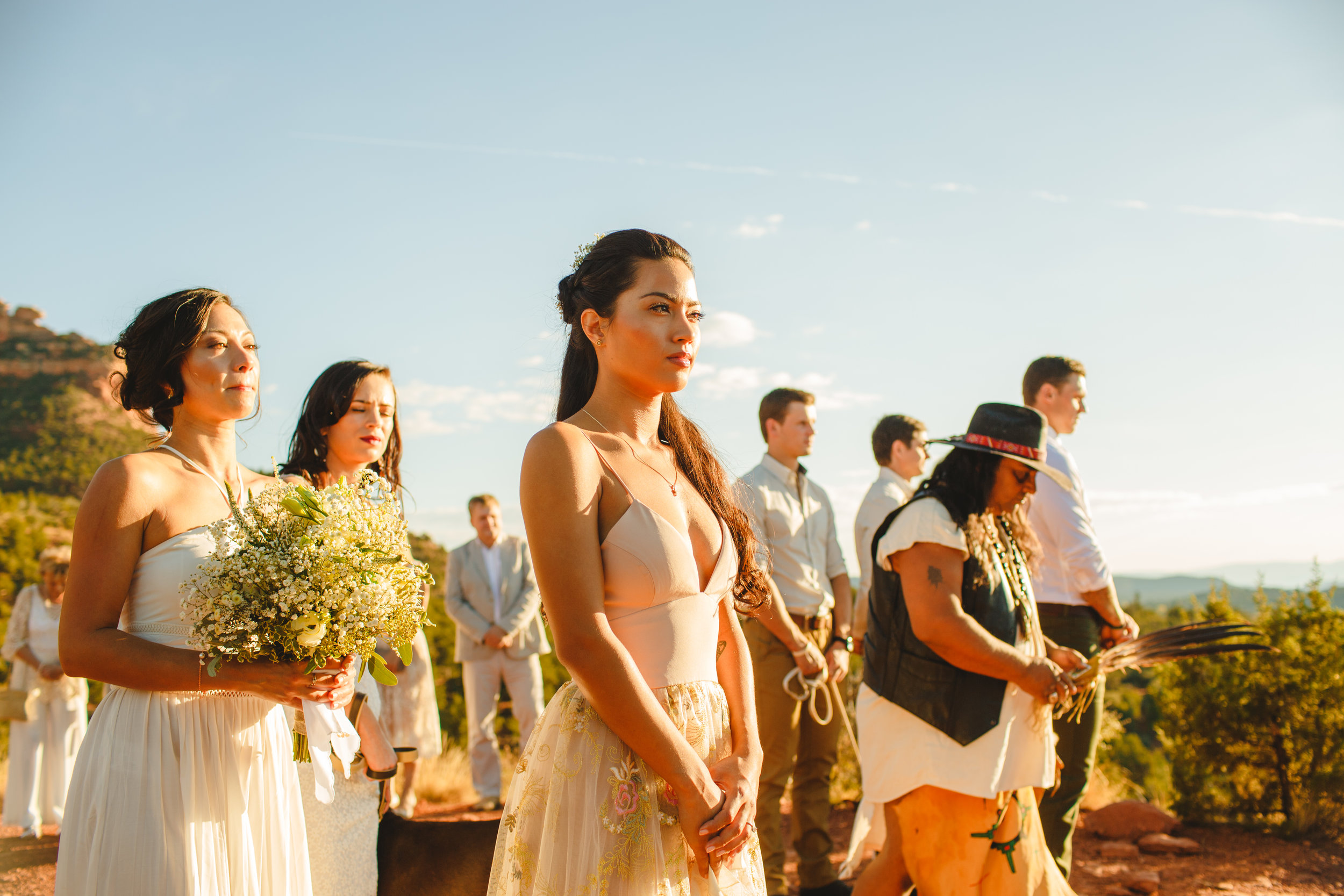 Native American ceremonies are becoming more popular on the red rock elopement ceremonies.