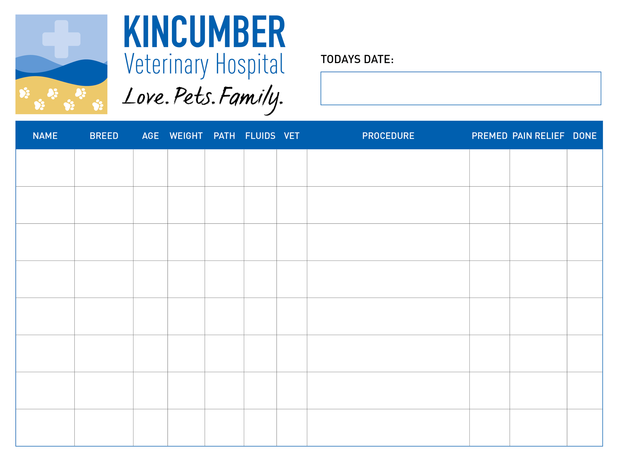 Kincumber Veterinary Practice - Patient Board