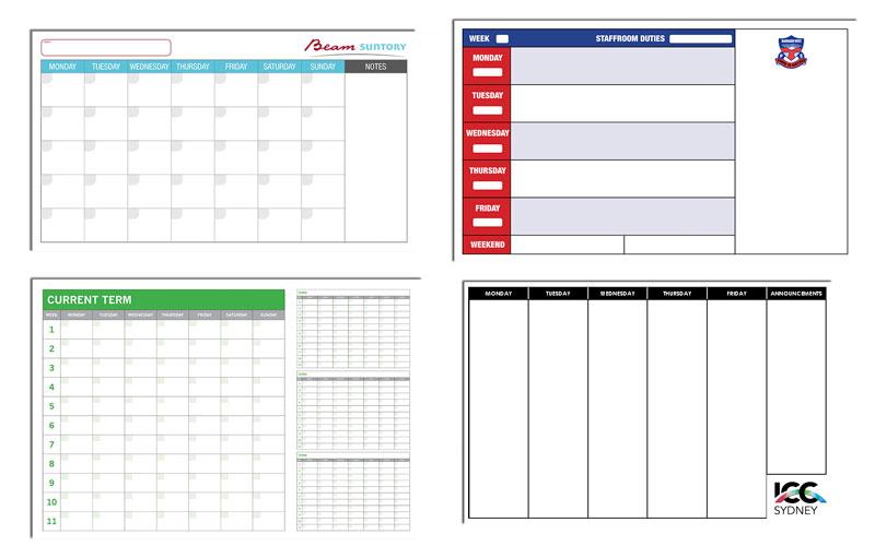 Custom Printed Whiteboard Planners