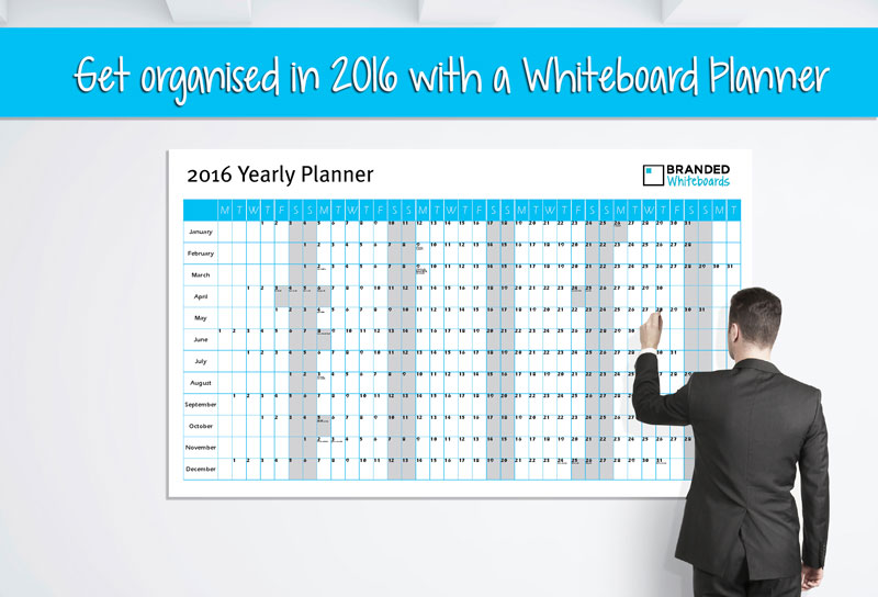 2016 Yearly Planner Whiteboard