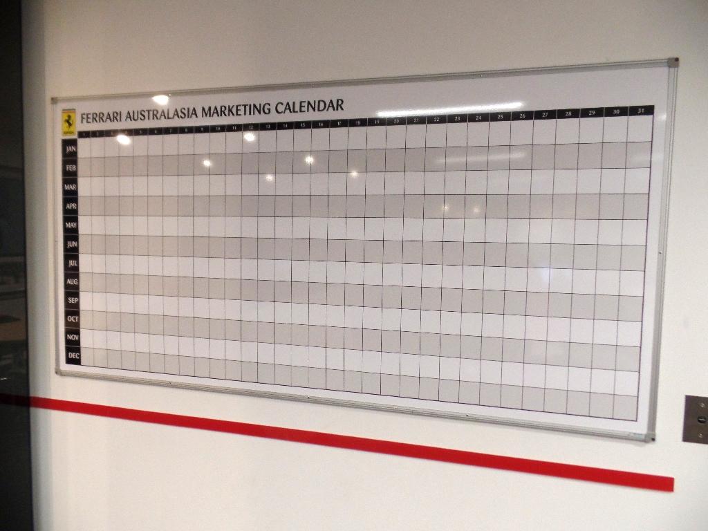 Ferrari Marketing Calendar