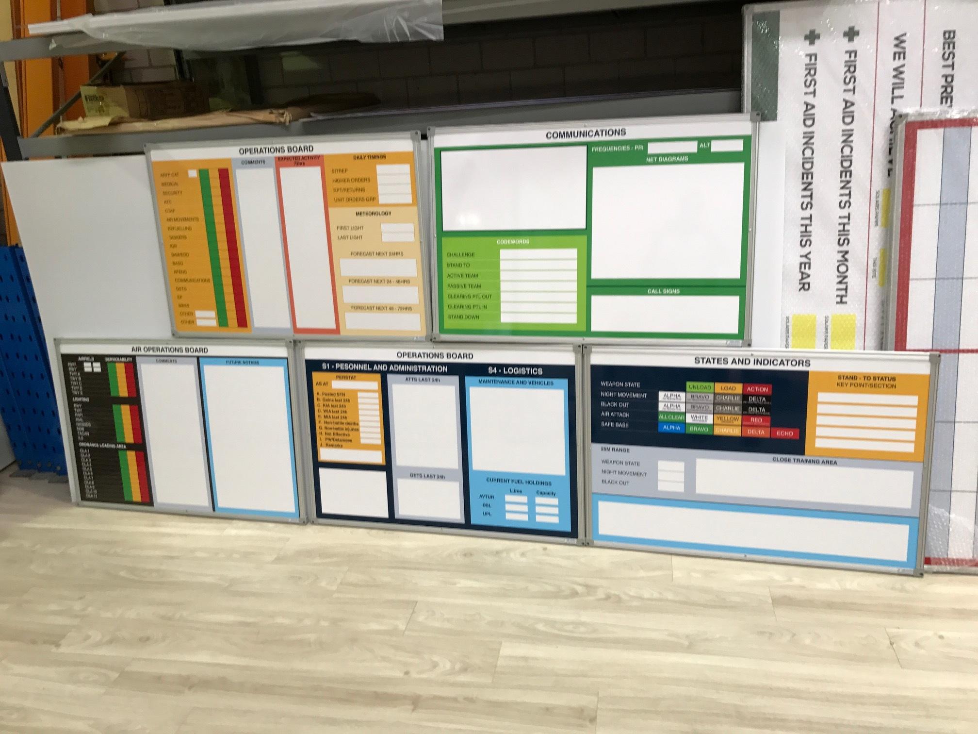 RAAF Magnetic Whiteboard Set