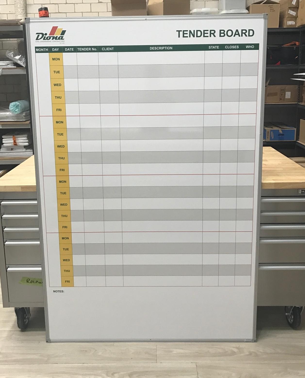 Diona Tender Board