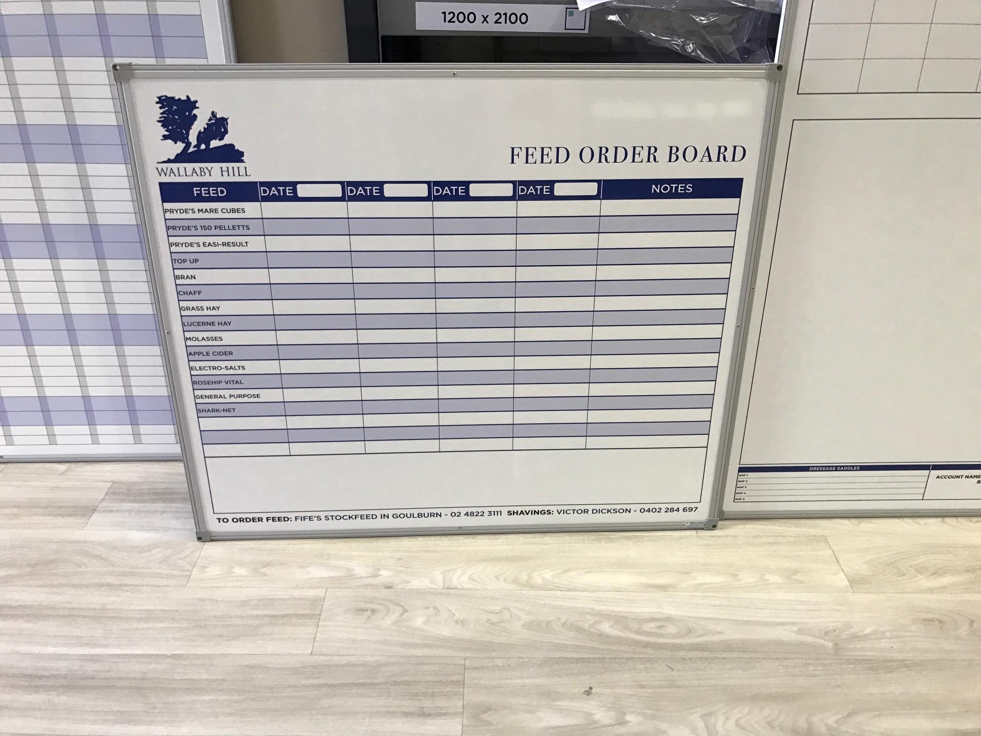 Feed Order Board