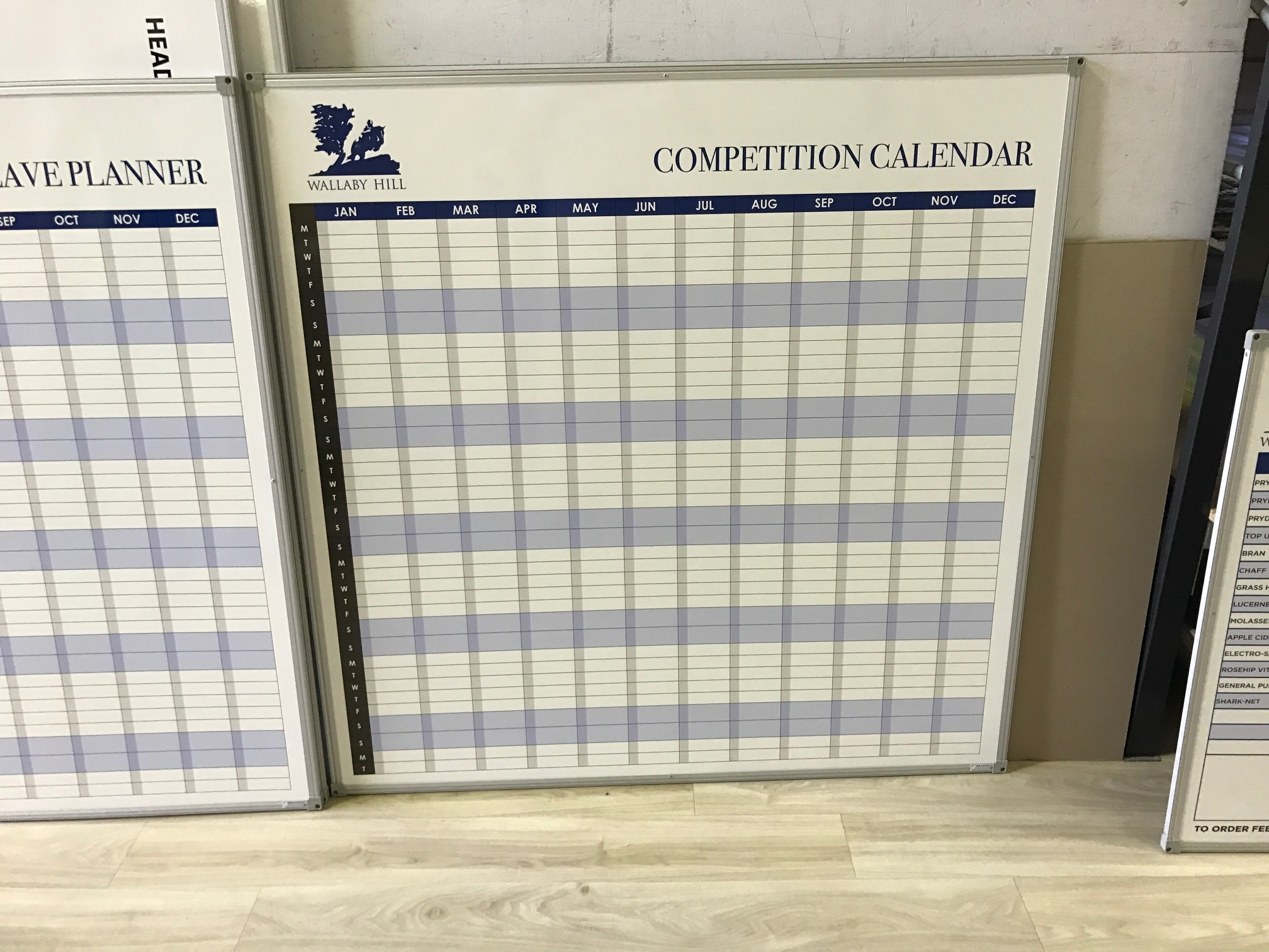 Competition Calendar Whiteboard