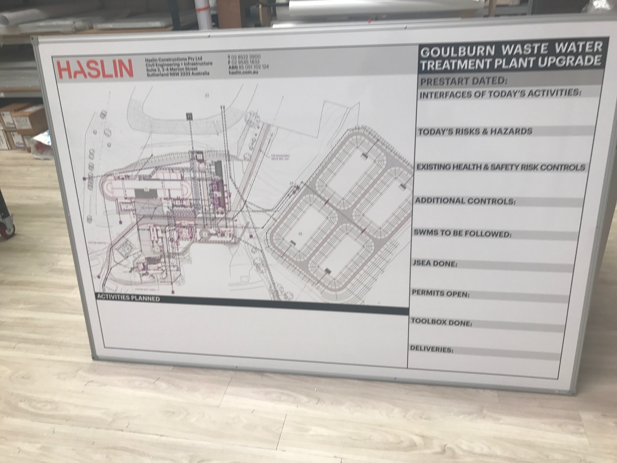 Haslin Plant map