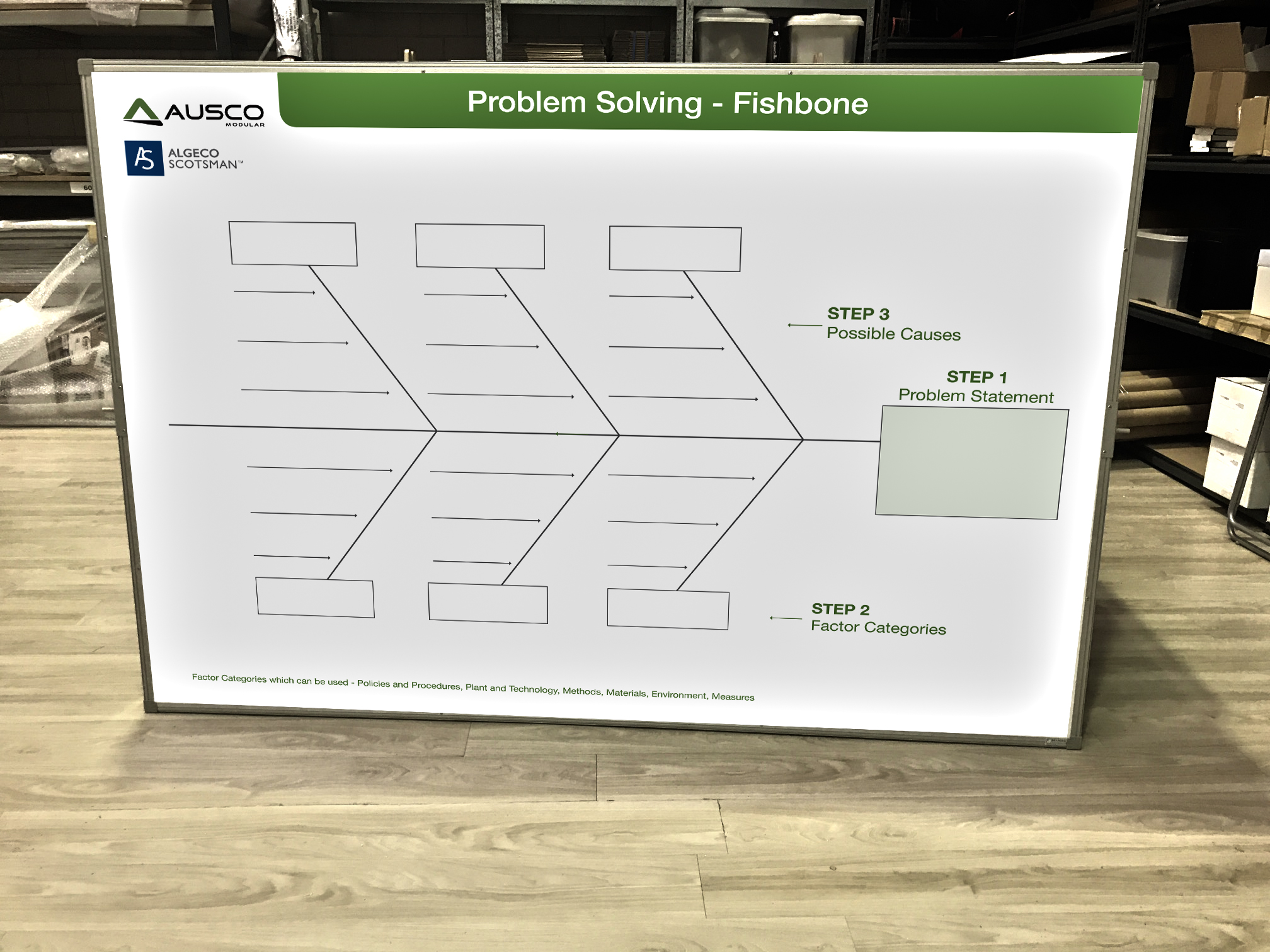 Ausco Modular Fishbone Diagram Whiteboards
