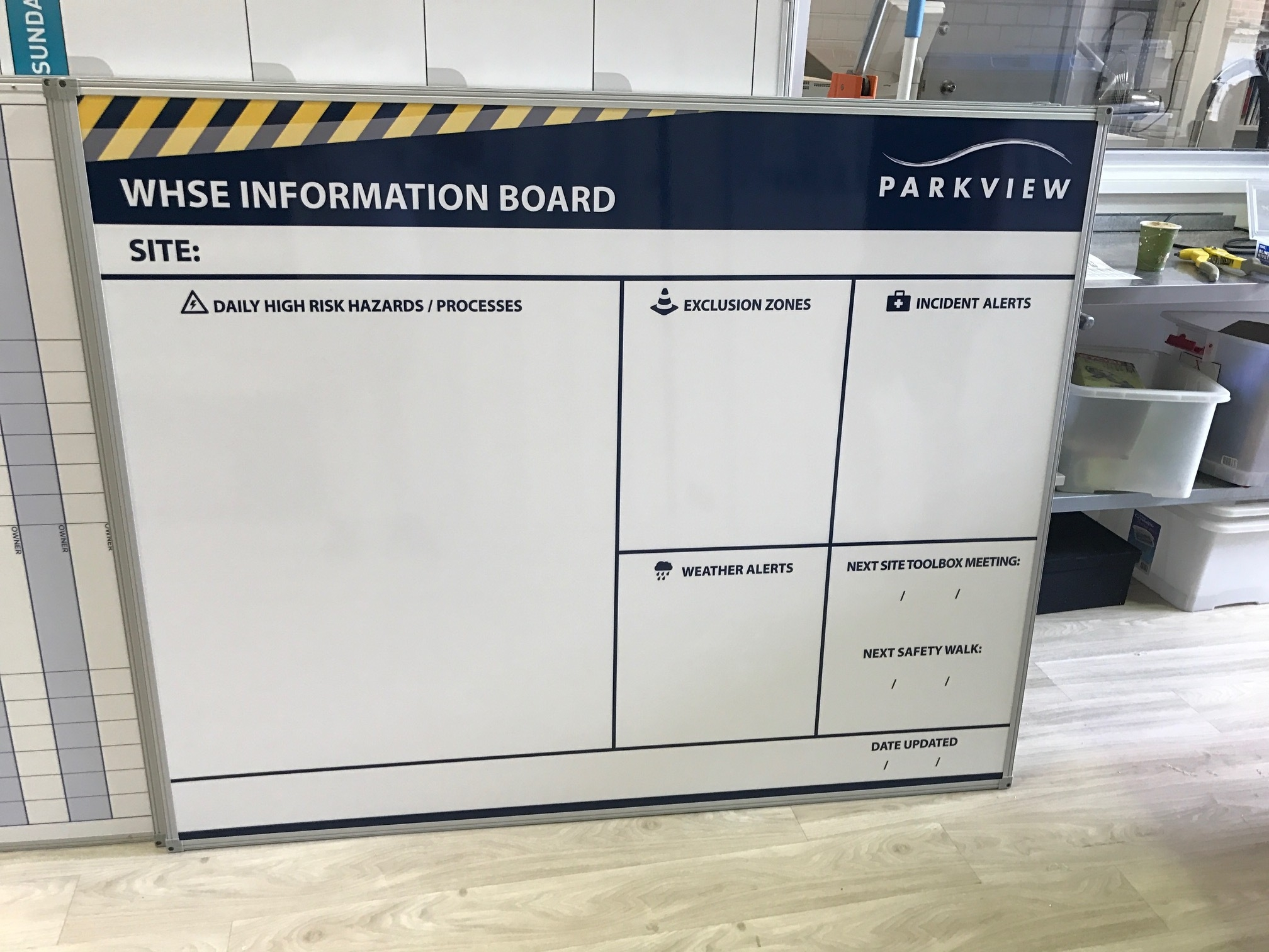 WHSE Site Safety Board - Parkview
