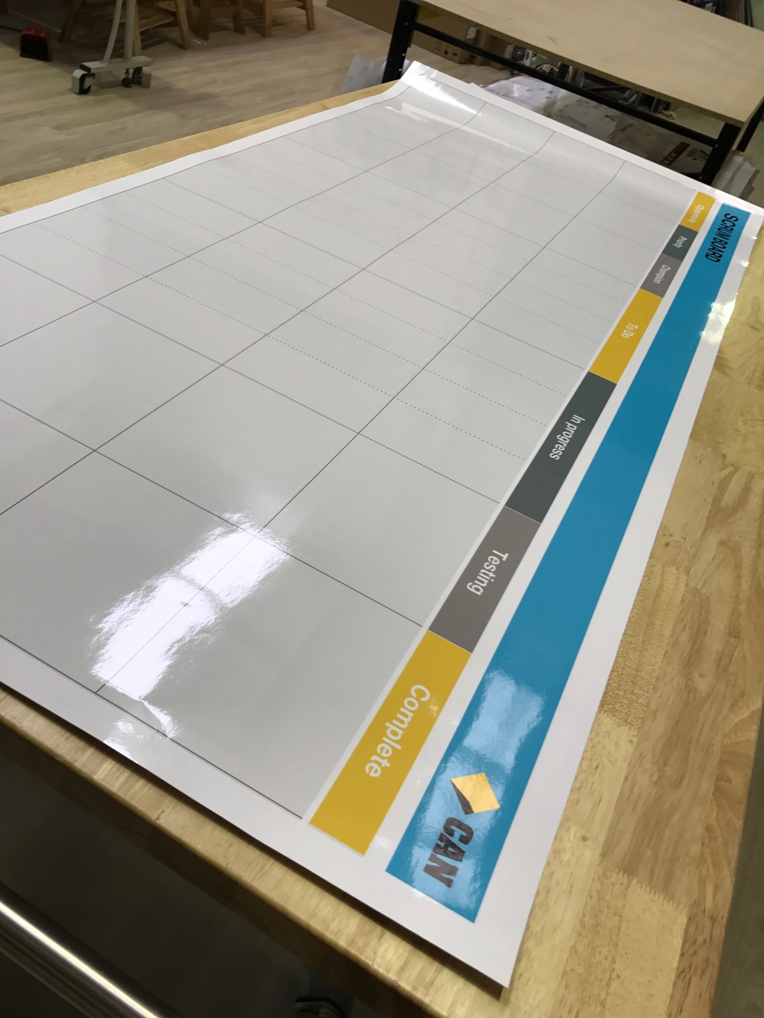 CBA Roll-Up Whiteboard Scroeboard