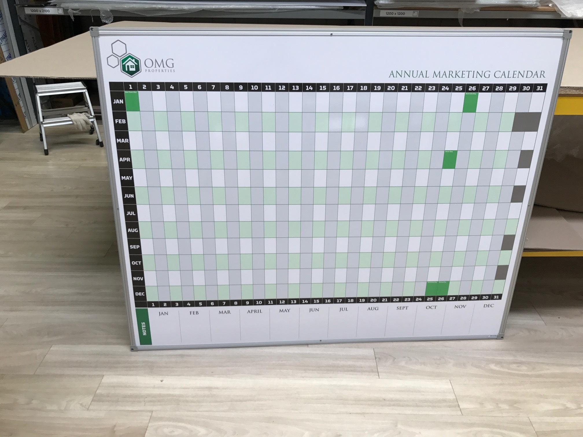 Marketing Calendar Whiteboard