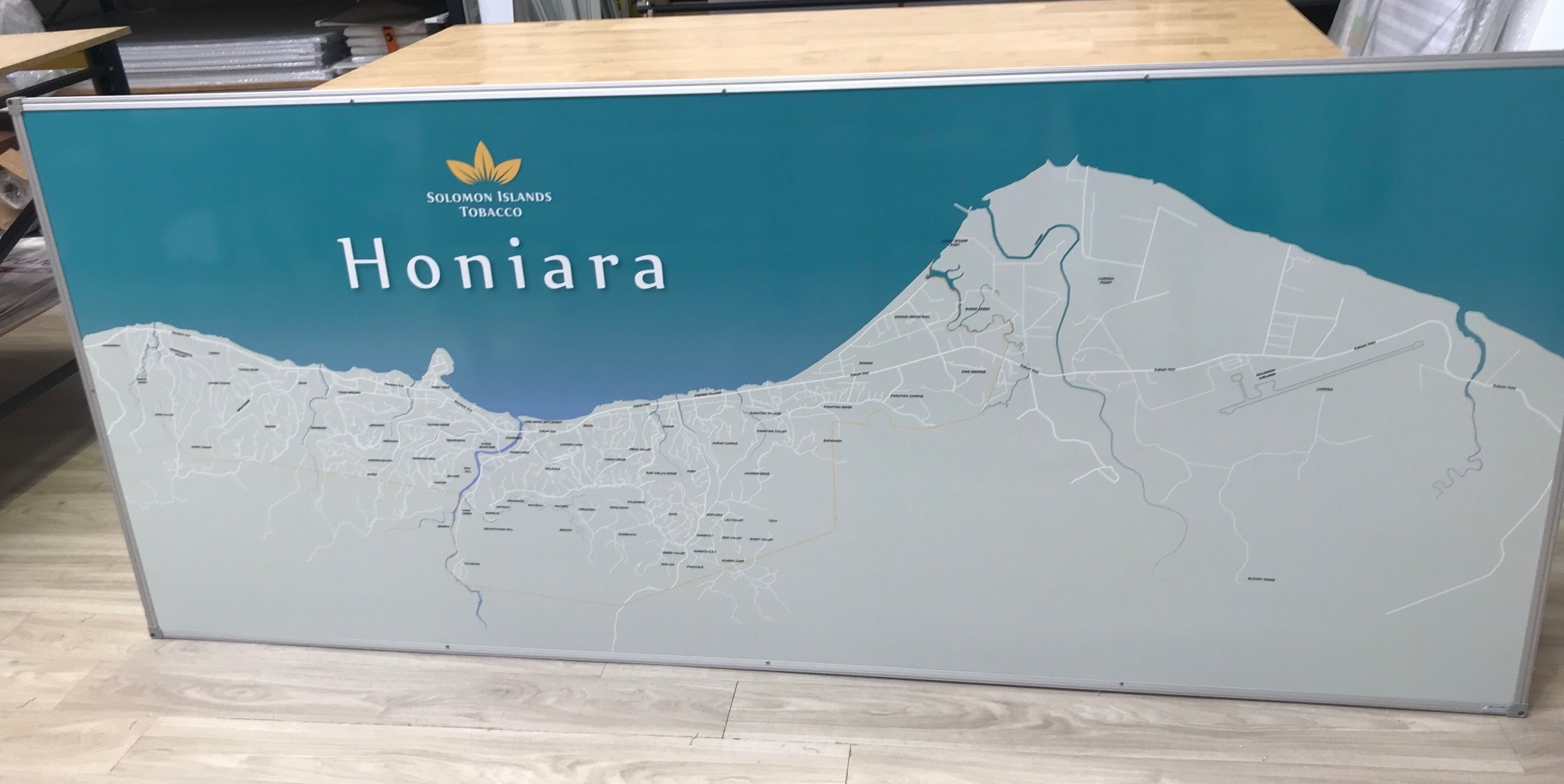 Honiara Map Whiteboard