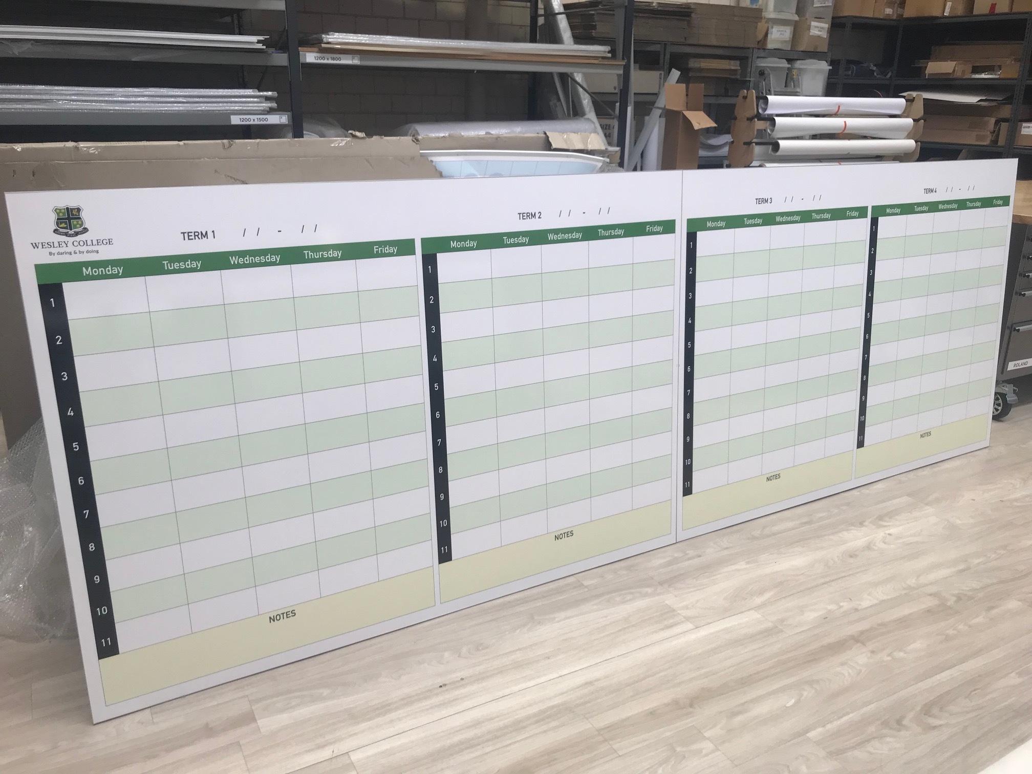 Term Planner Wall Panels