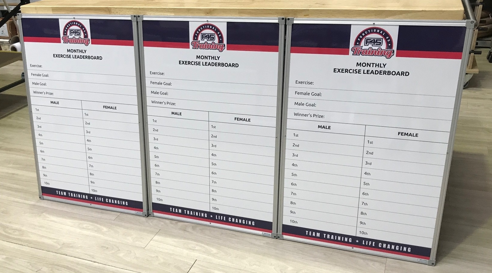 F45 Exercise Leaderboards