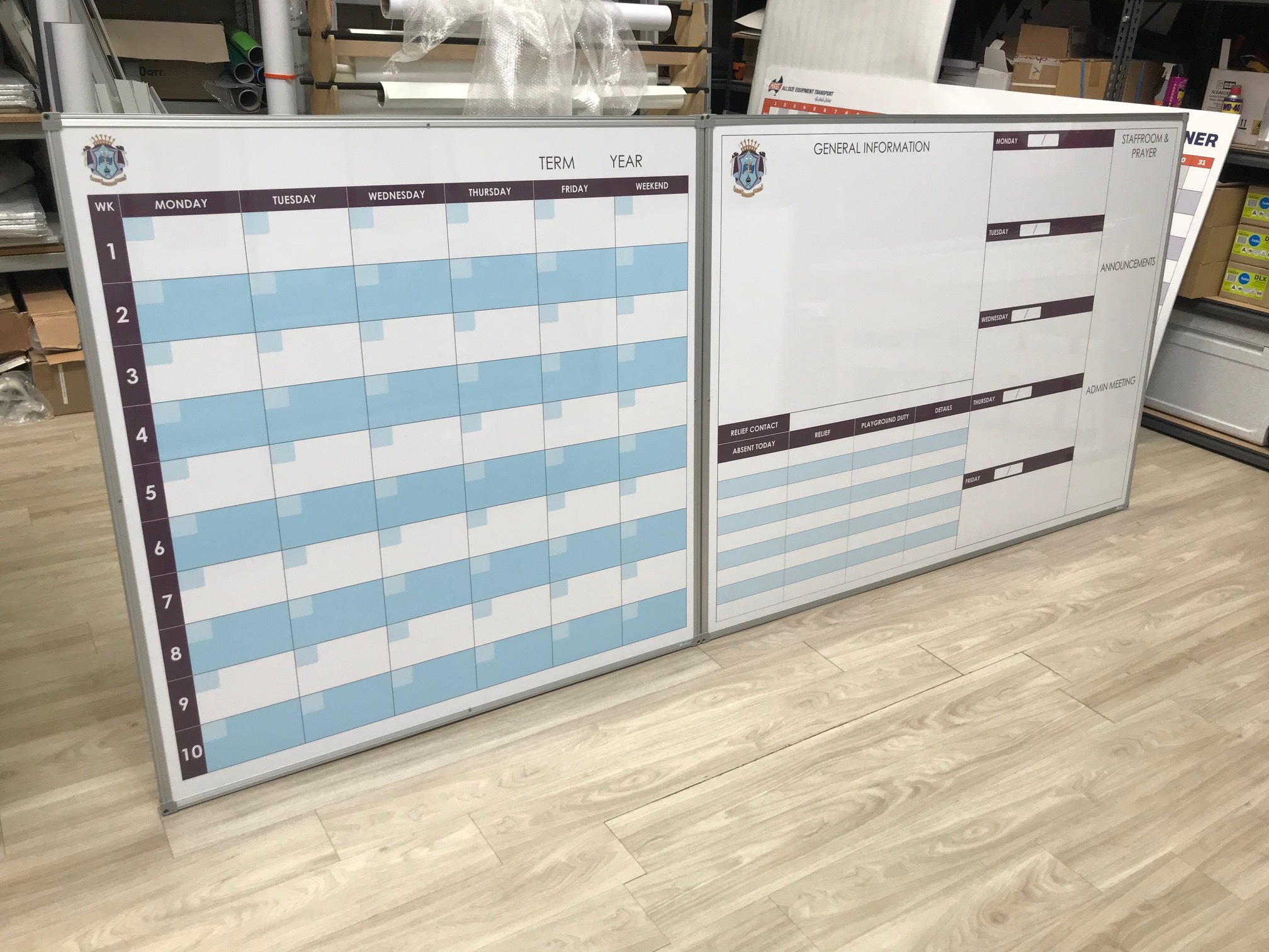 term planner white board set