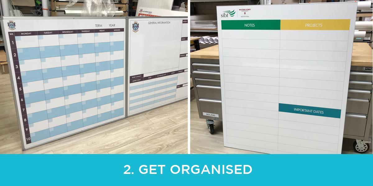 get organised whiteboard