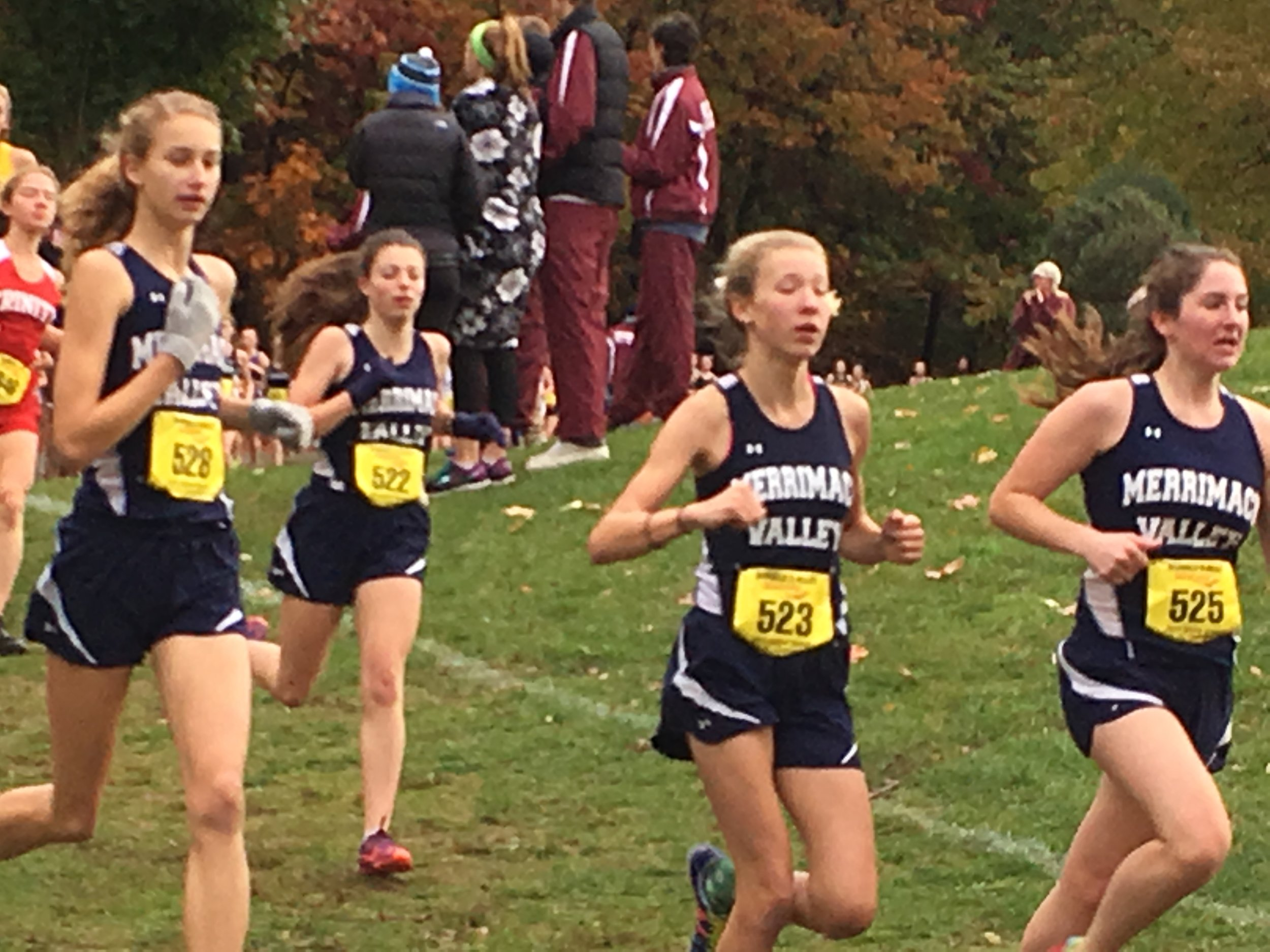 The Pack. Emma, Tristan, Noelle, and Lauren in the First Mile