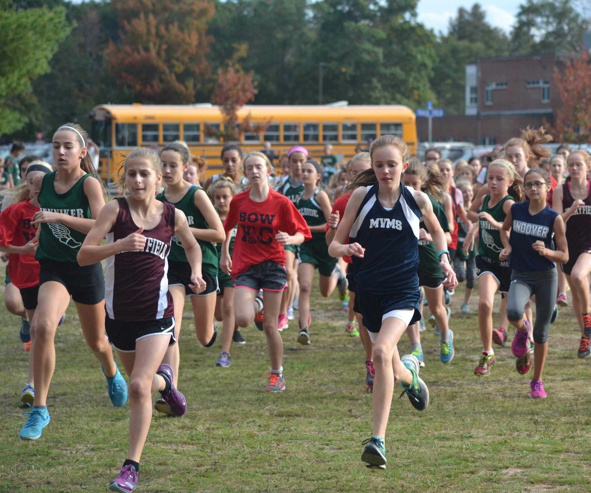 Samantha Starts the Girls Race
