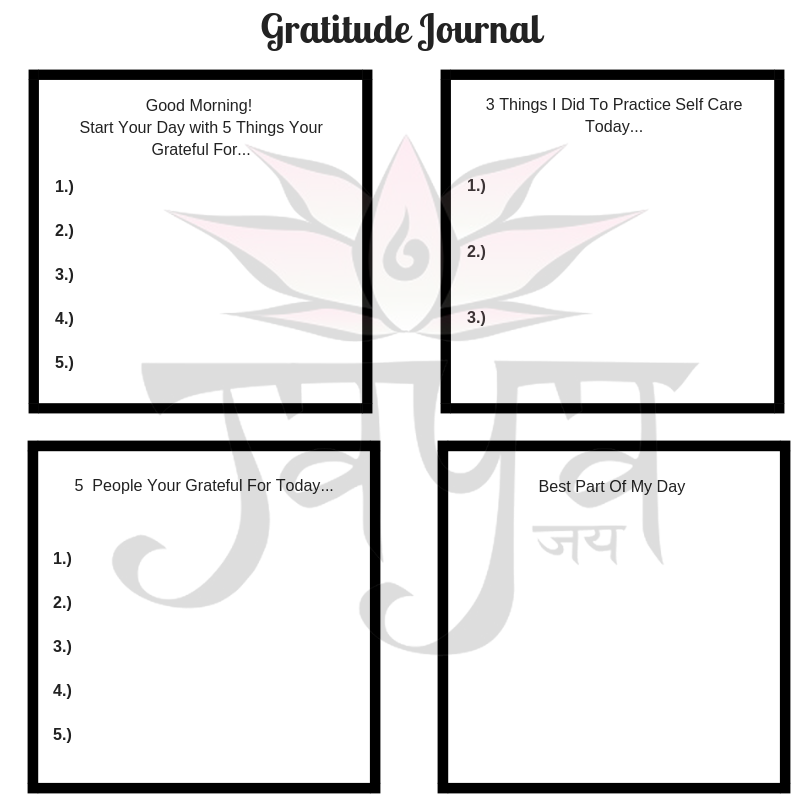Download and fill out your own gratitude journal
