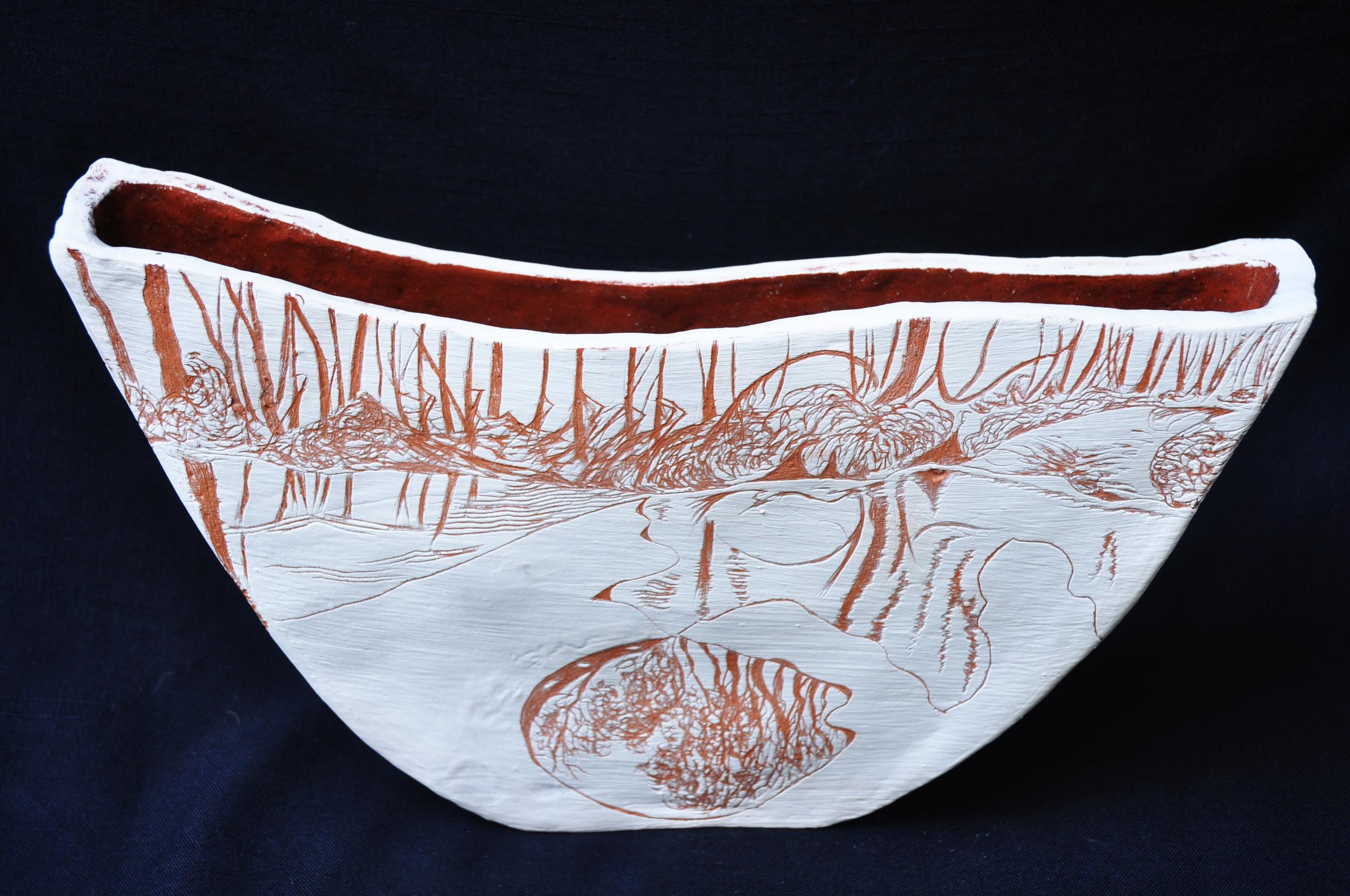 Am Bay Burnt reflections.Terracotta Paperclay.jpg