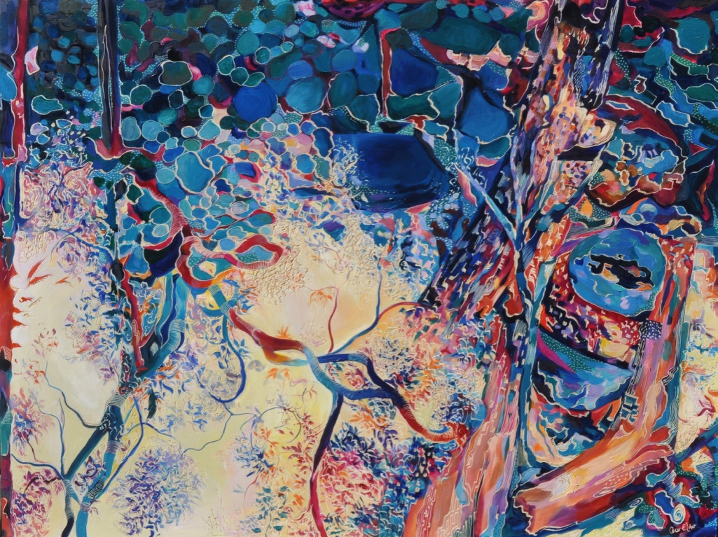 Title: Reflections of Another World   Medium: Oil on Board Carved  Dimensions: 90x120cm