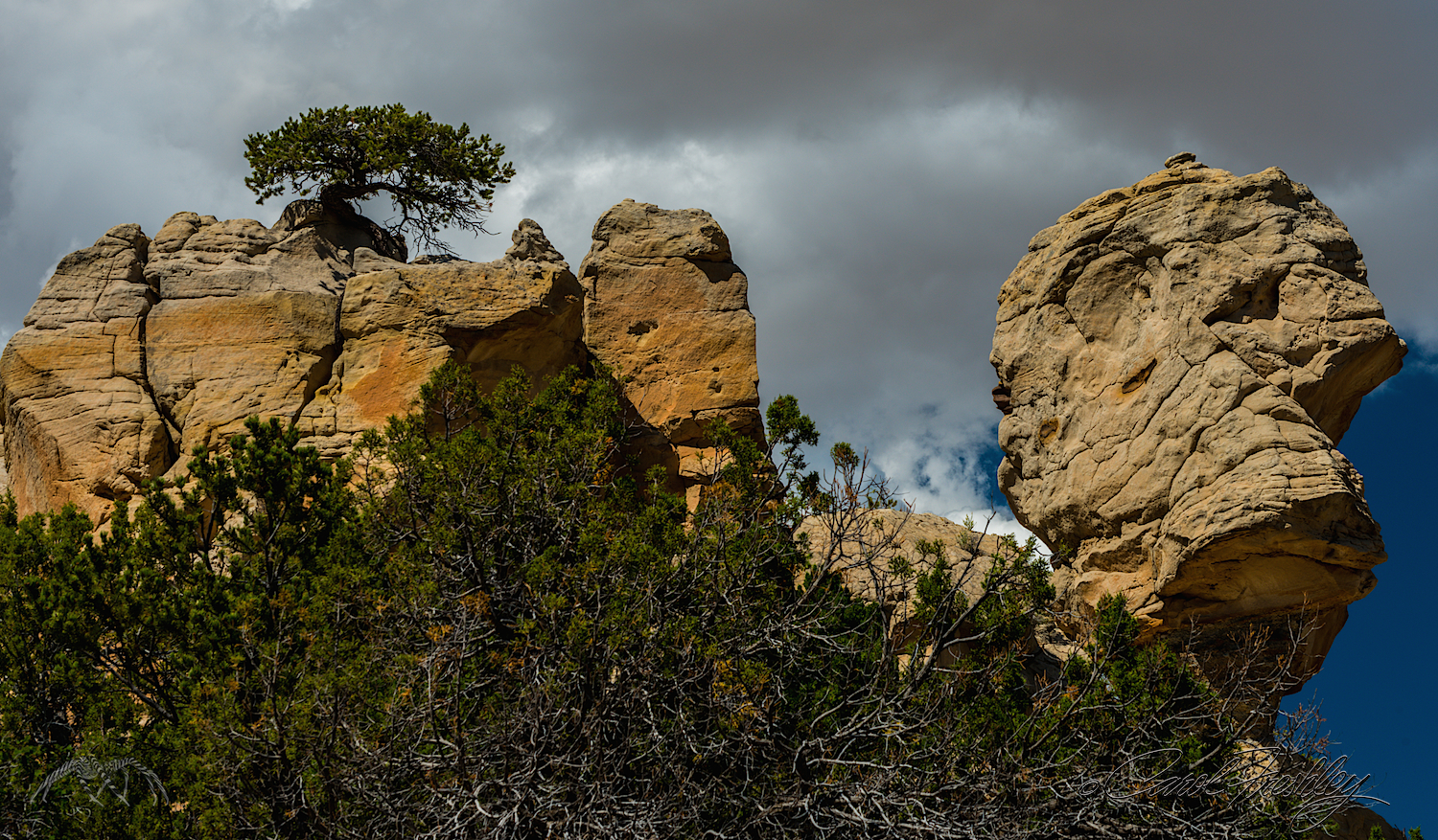 Better than Balancing Rock at Arches National Park. I'll bet Nancy can make a famous person's face out of this one.