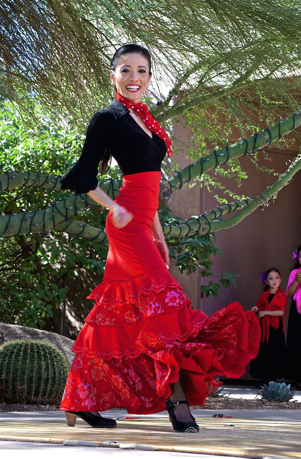 If I thought flamenco dancing would make me look like that I would spend hours a day at her school.