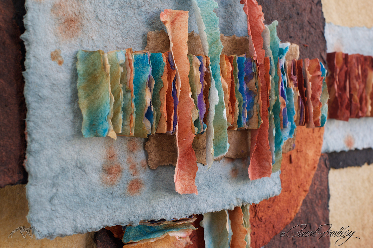 Small excerpt of a much larger art piece..  I was drawn to the color and imagination of the artist.  Lots of texture!