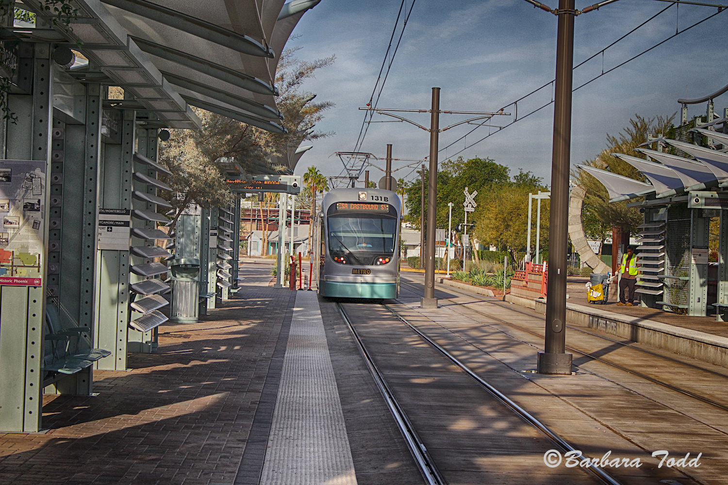 If you have not tried the Phoenix Light Rail . . . well it is fun, safe and cheap.  Reminded Doreen of her childhood in New York City.